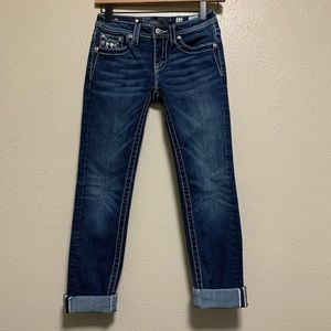 Girls Miss Me skinny denim jeans bling back pocket